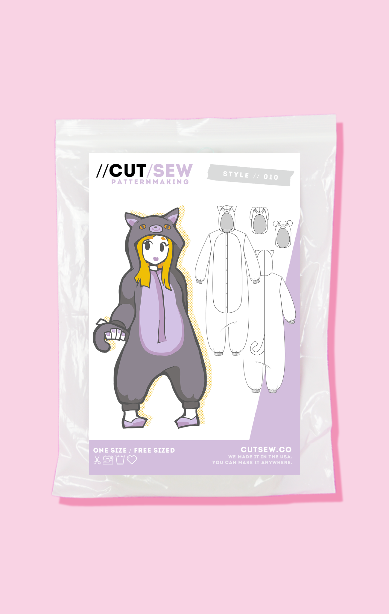Beginner Friendly Kigurumi Onesie Cosplay Sewing Pattern