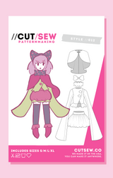 Mahou Shoujo Cosplay Sewing Pattern Front Tag