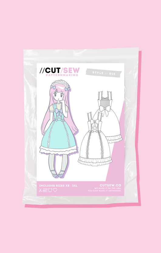 Lolita JSK Sewing Pattern // CUT/SEW – CUT/SEW Patternmaking