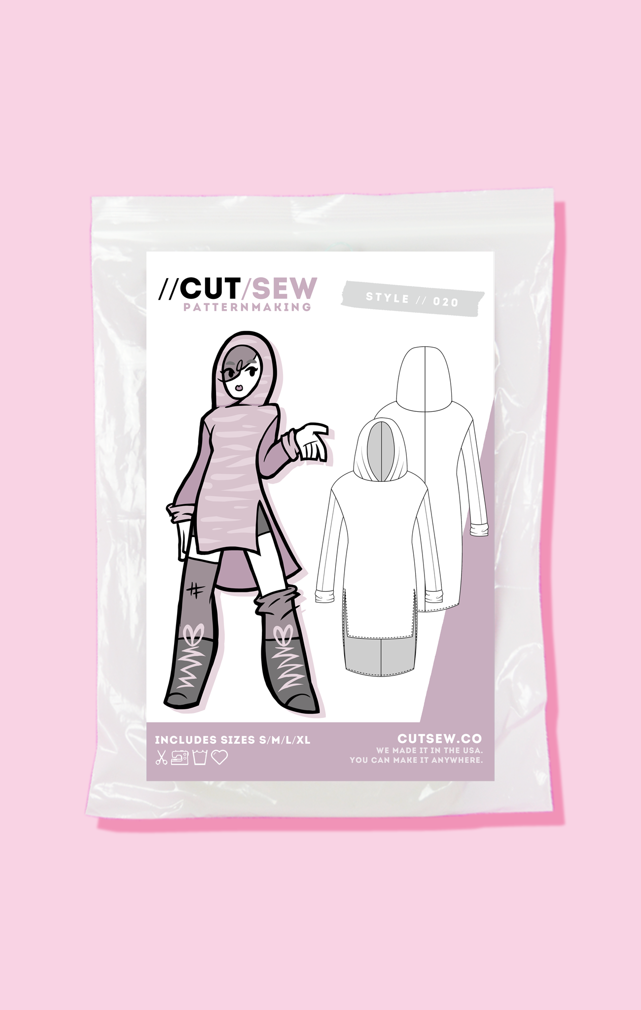 CUT/SEW Beginner Friendly Unisex Tunic Sewing Pattern