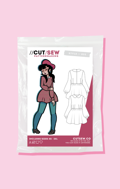 CUT/SEW Beginner Friendly Mod Dress Sewing Pattern