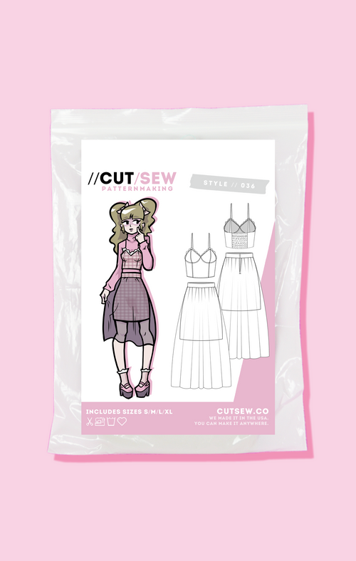 CUT/SEW Beginner Friendly Kawaii J-Fashion Sewing Pattern