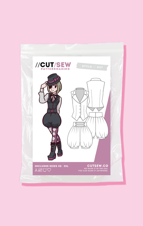 CUT/SEW Beginner Friendly Ouji Lolita Sewing Pattern