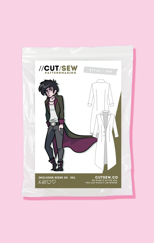 CUT/SEW Beginner Friendly Duster Coat Sewing Pattern