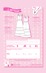 Larme Kawaii Cult J-Fashion Sewing Pattern // CUT/SEW