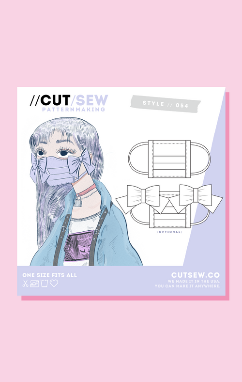 CUT/SEW Beginner Friendly Face Mask Sewing Pattern