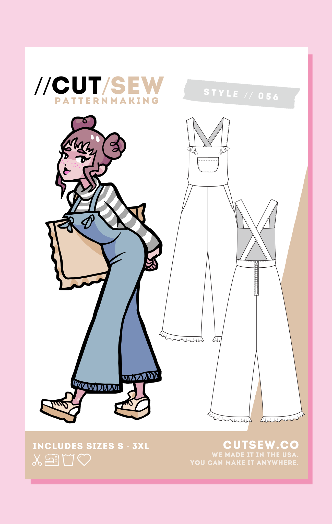 CUT/SEW Overall Playsuit Sewing Pattern