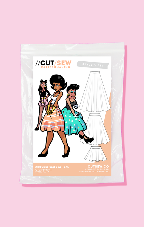 CUT/SEW Circle Skirts Beginner Friendly Sewing Patterns