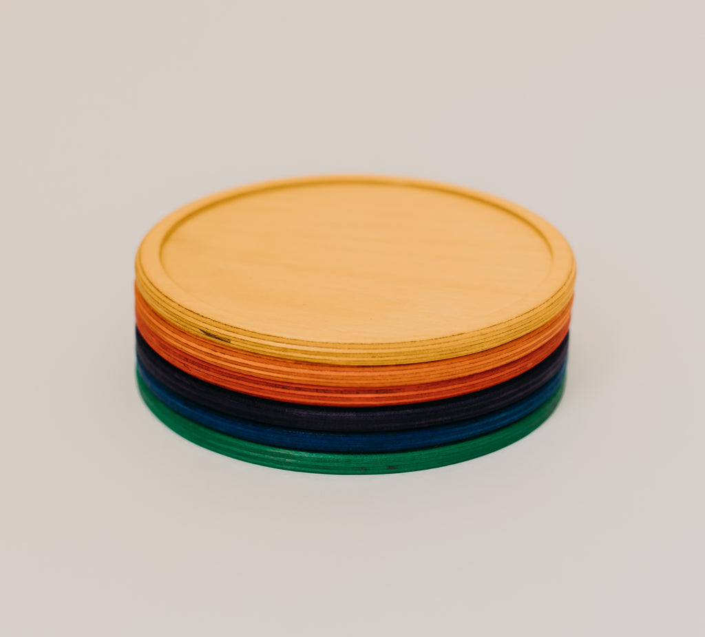 Rainbow Stacking Plates