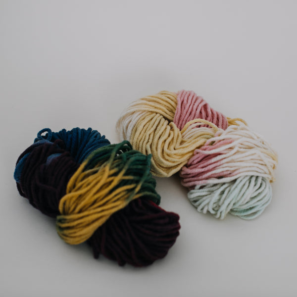 Plant-dyed Knitting Wool