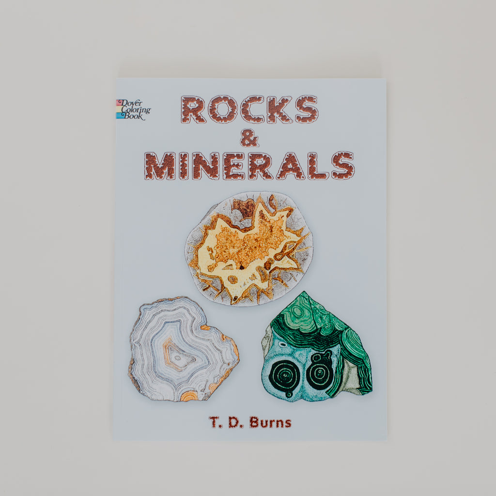 Rocks + Minerals Coloring Book