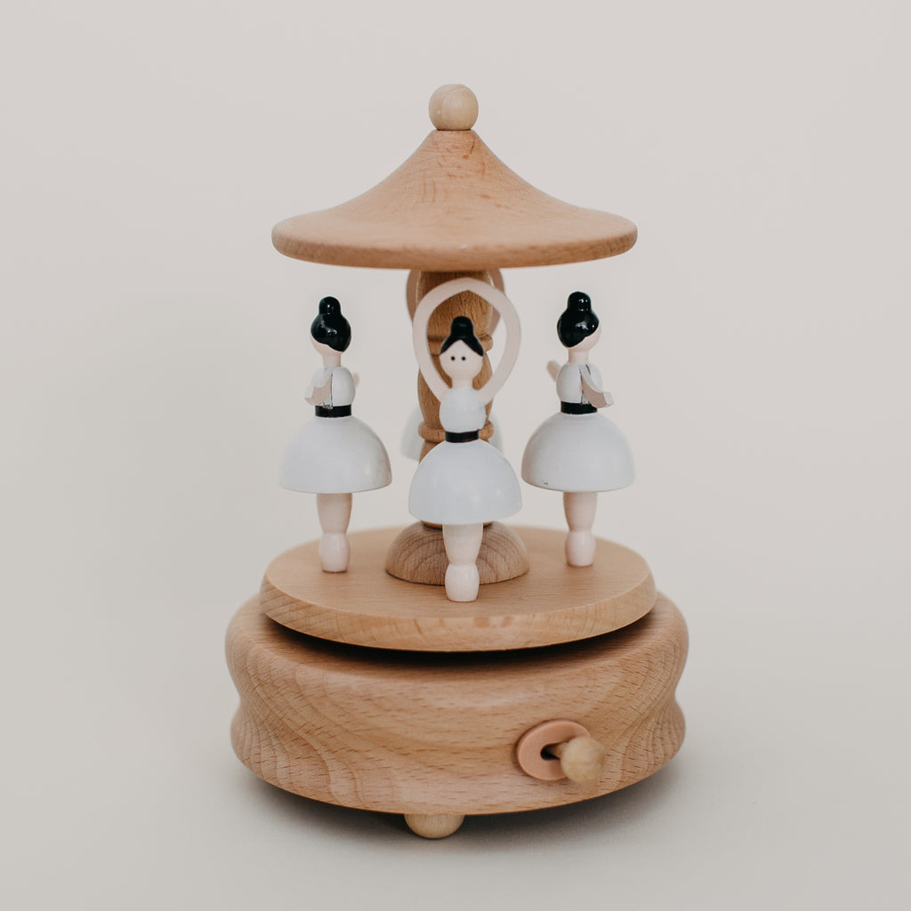 Wooden Ballerina Music Box