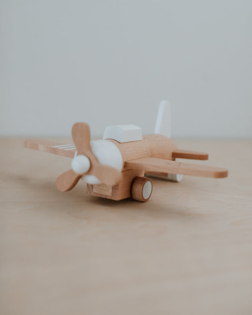 Pull-back Wooden Plane