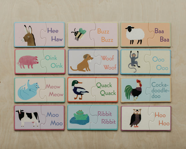 Animal Sounds Puzzle Pairs