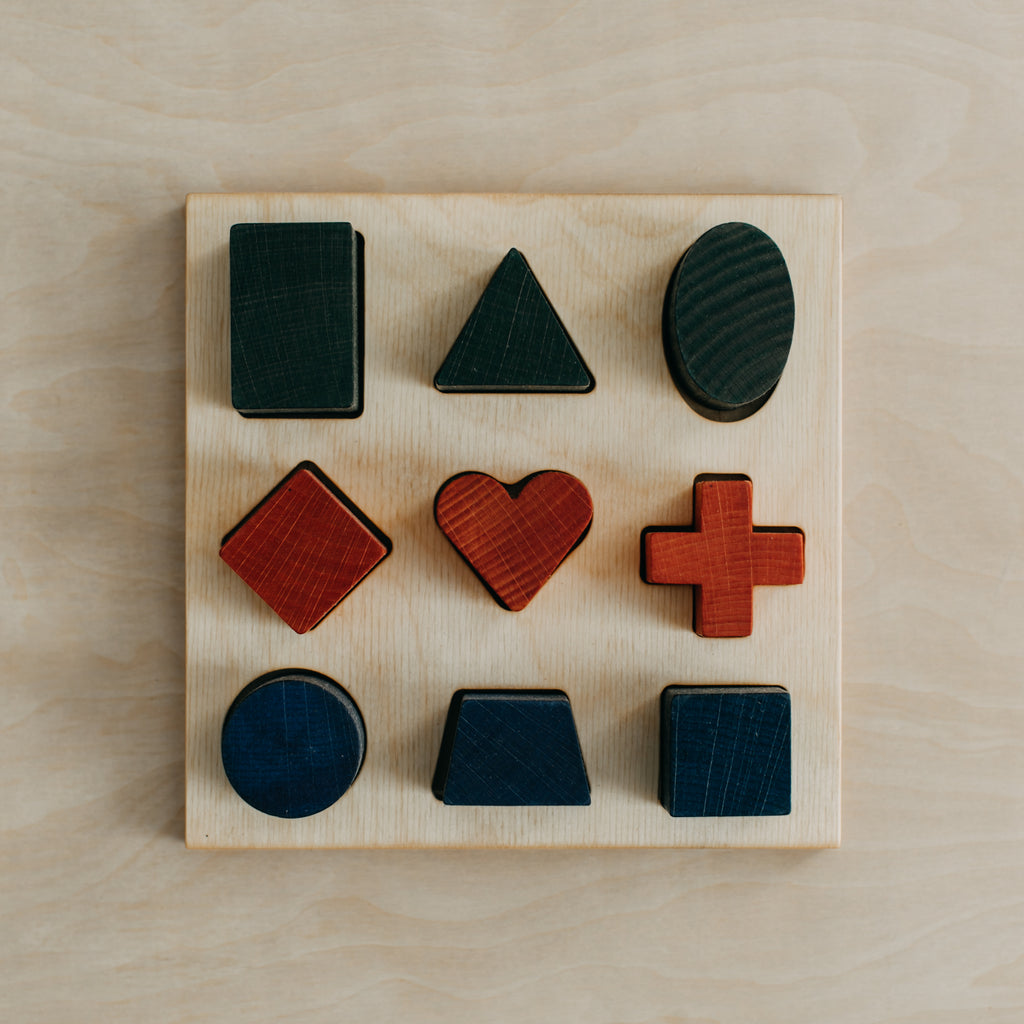 Rainbow Shape Puzzle Board