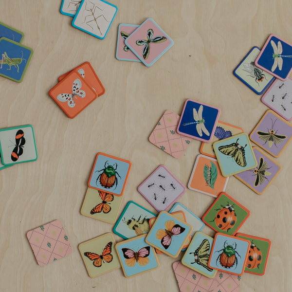 Bugs + Butterflies Mini Memory Game