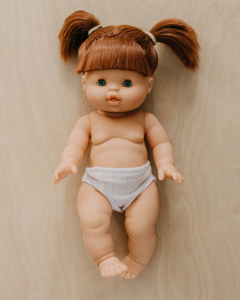 Gabrielle Gabby - Female Doll with red hair, white