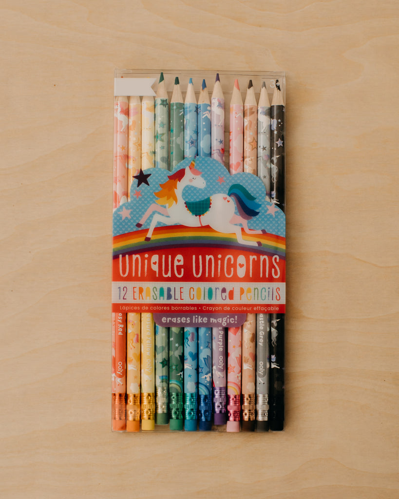 Erasable Unicorn Colored Pencils