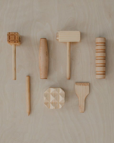 Wooden Play Dough Tool Set