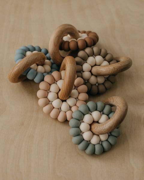 Silicone + Wood Teether