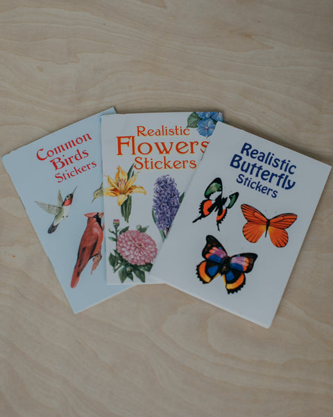 Birds, Butterflies + Flowers Sticker Set