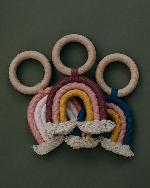 Rainbow Macrame Teether