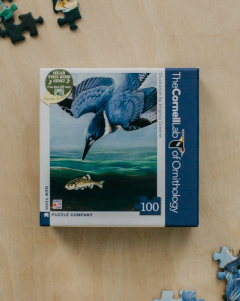 Belted Kingfisher 100 Piece Mini Puzzle