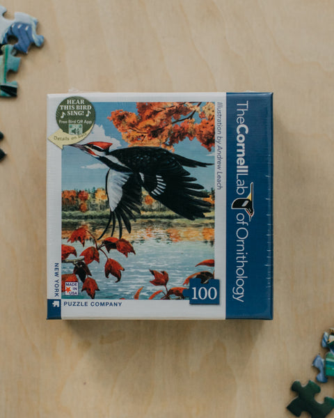 Pileated Woodpecker 100 Piece Mini Puzzle
