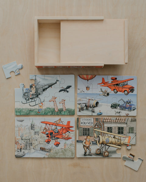 Airplanes Boxed Puzzle