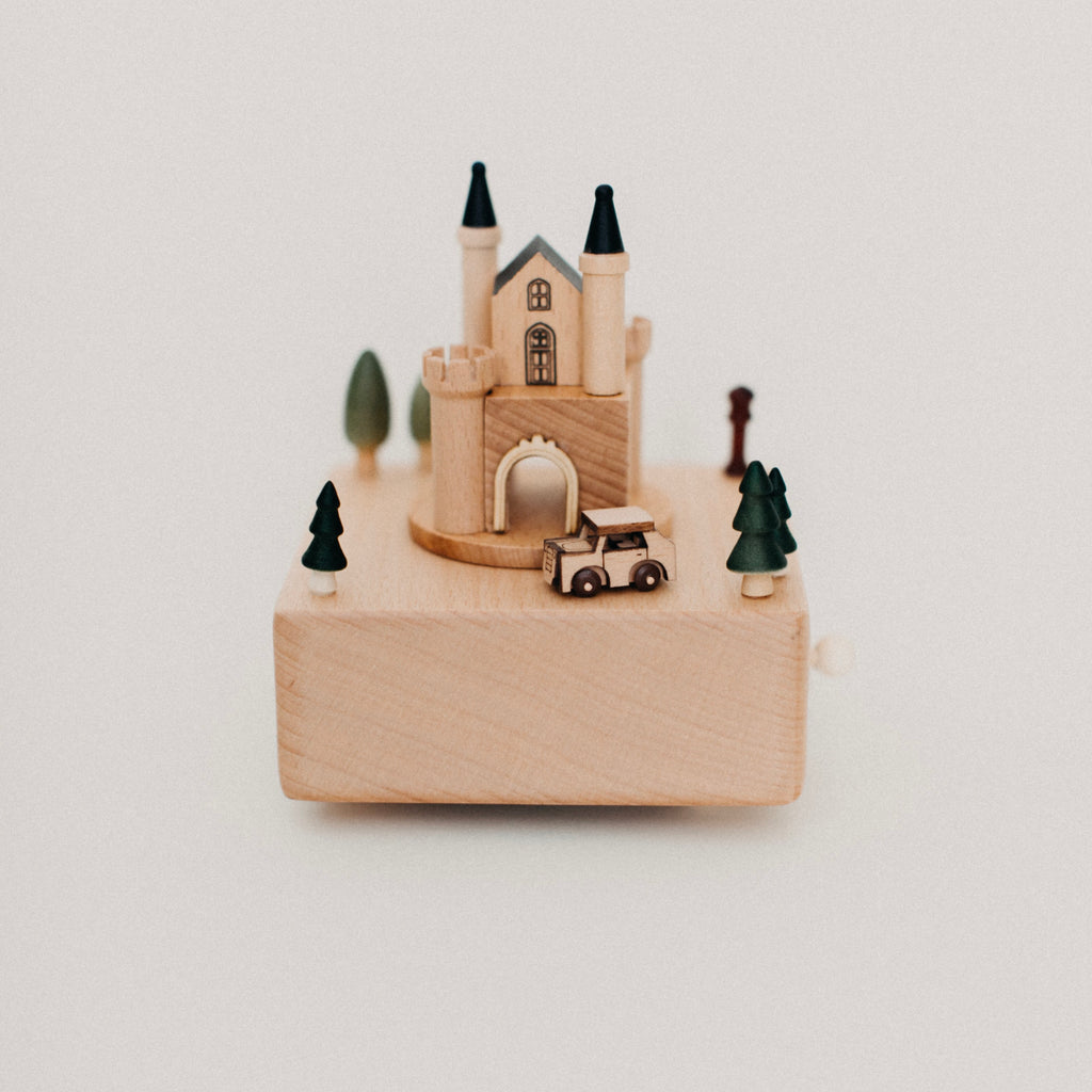Wooden Castle Music Box