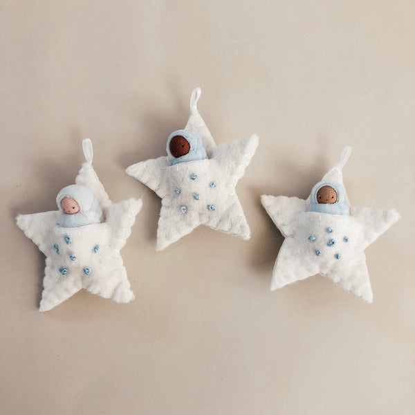 Embroidered Star Pocket Doll Ornament