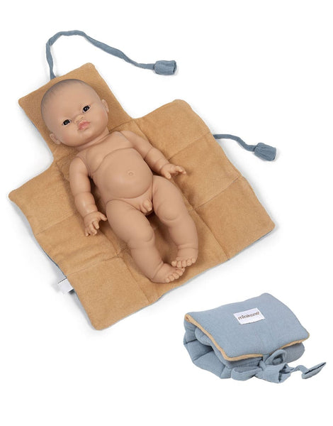 Doll Changing Mat in Arctic Blue