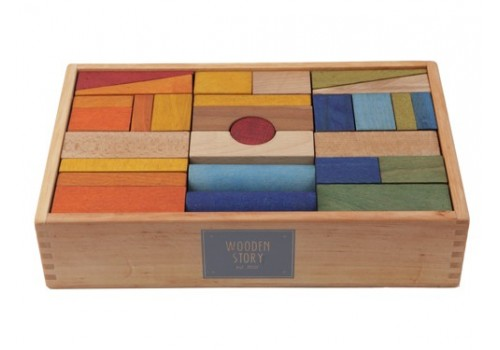 Rainbow Blocks in Tray XL - 63 pieces