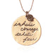 Inhale Courage Exhale Fear Necklace