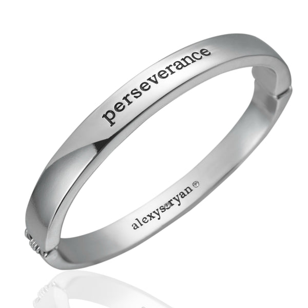Alexys Ryan - Perseverance Bangle in Silver