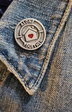 Covid 19 Support - Alone Together Pin