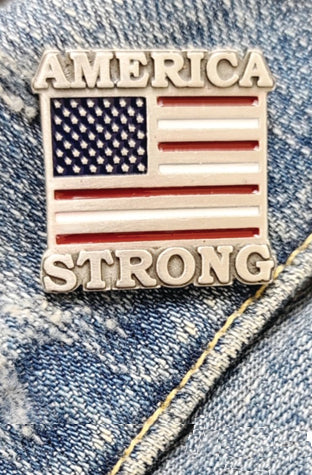 Covid 19 - America Strong Pin