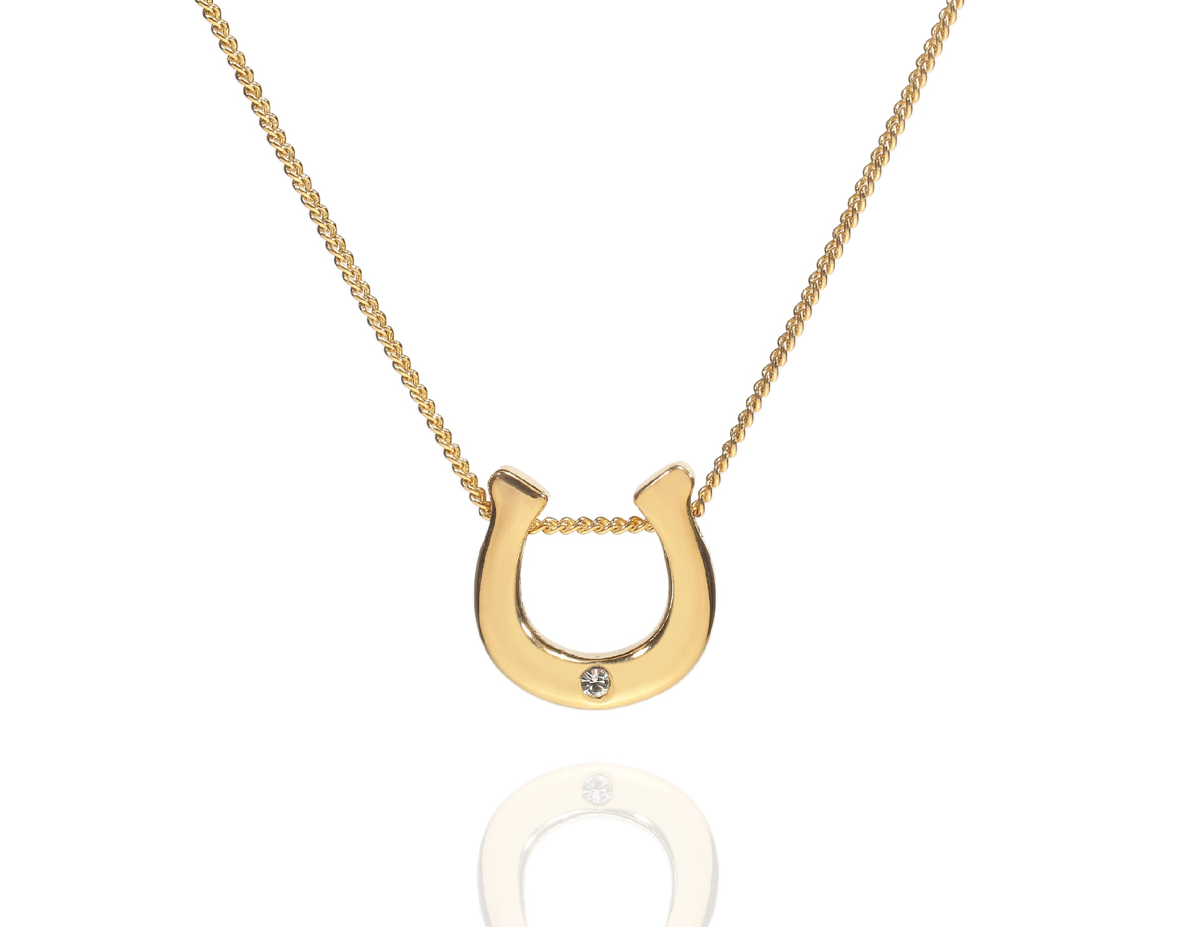 rose short cm plated charm follie en folli lucky hires necklace gold