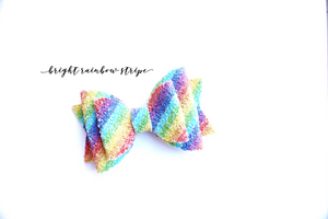 Bright Rainbow Stripe Glitter
