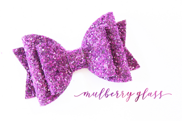 Mulberry Glass Glitter