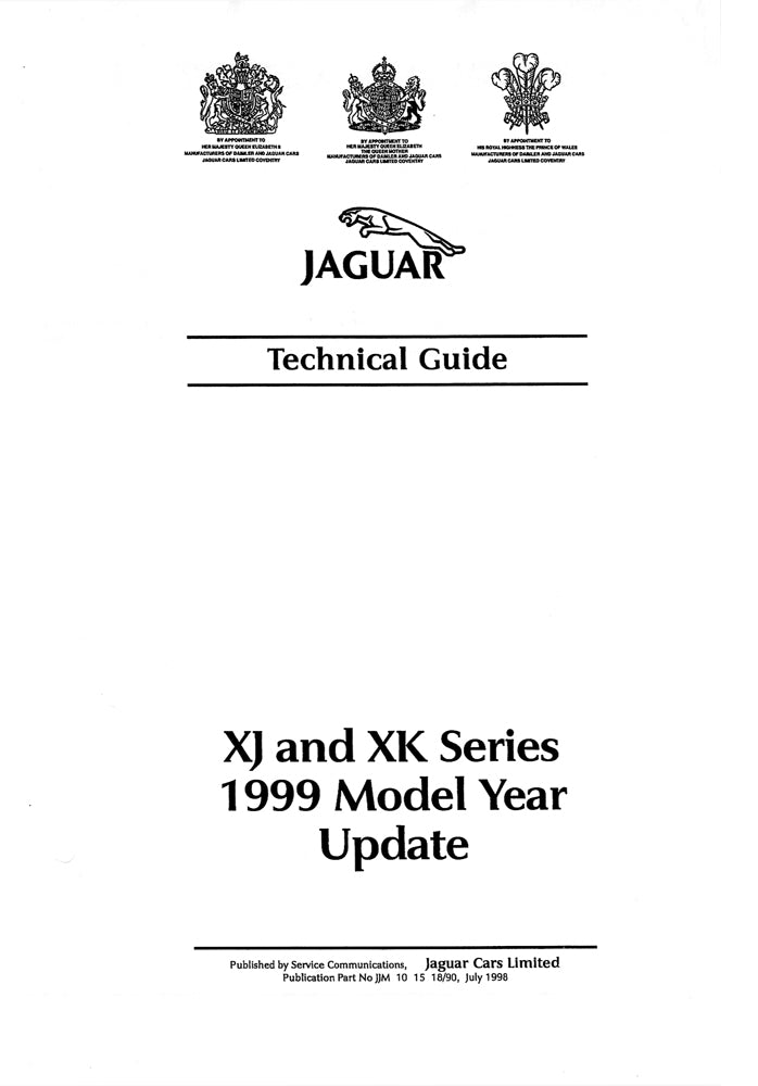 XJ and XK Series 1999 Model Year update