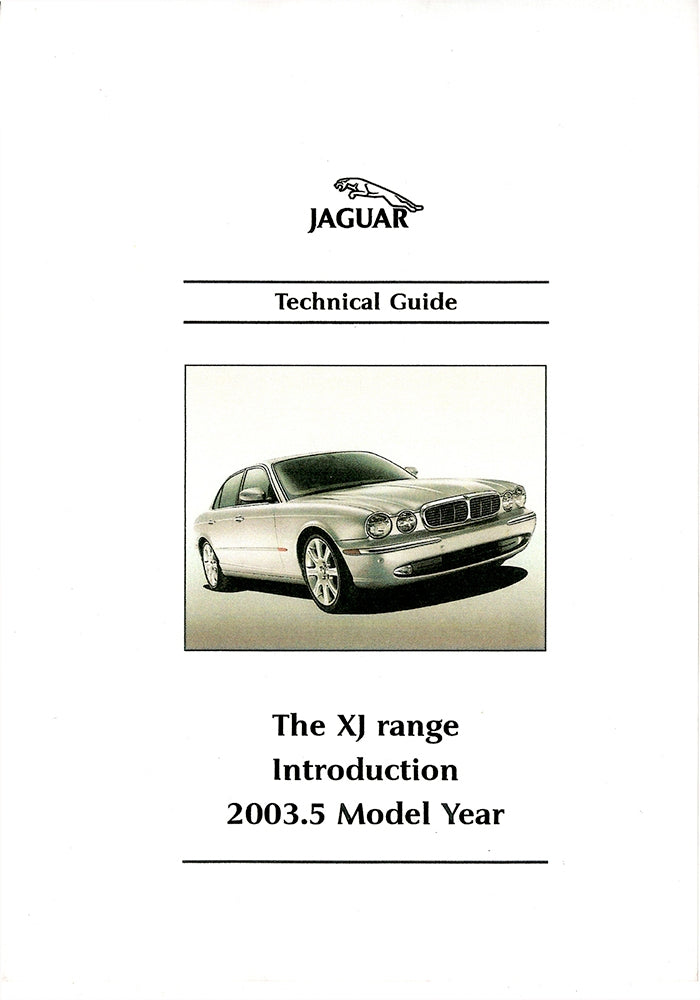 The XJ Range introduction 2003.5 Model Year