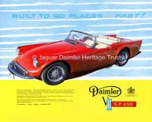 Daimler SP250 Brochure 60th Anniversary Limited Edition Reprint