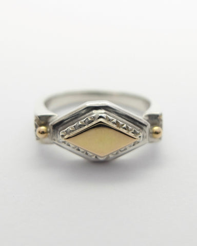 Kyda ring | Silver and Gold