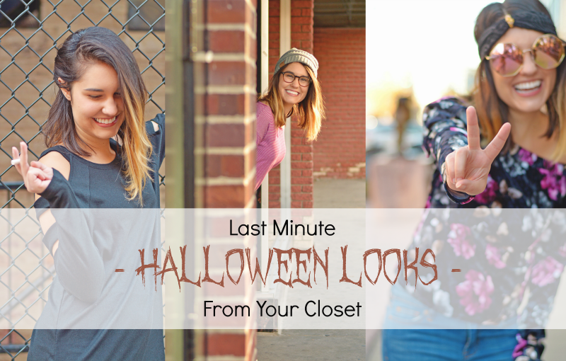 Last Minute Halloween Looks from your Closet