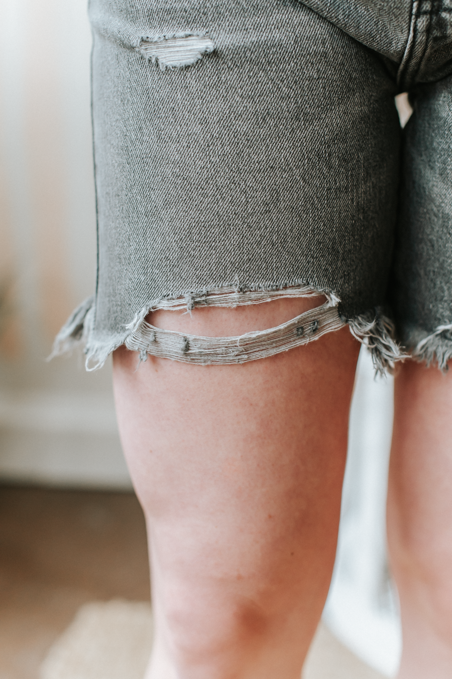Bianca Distressed High Rise Shorts