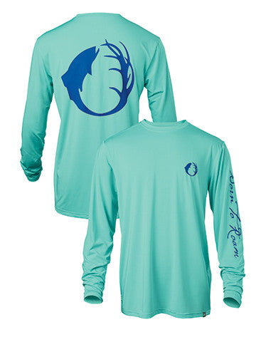 Lightweight, stretch poly crew neck fishing tee integrates quick-dry, moisture wicking, and UPF 30.  Pairs well with the Blackfoot River Ultimate Fishing Shirt for all day sun protection.