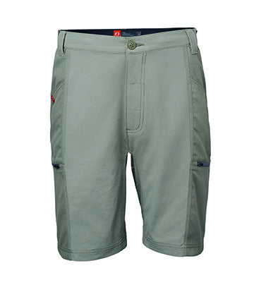 "9"" stretch nylon shorts are light and breathable with four secure zip pockets, an elastic exterior waistband with adjustable interior drawstring and durable canvas side panels to make climbing even more awesome."