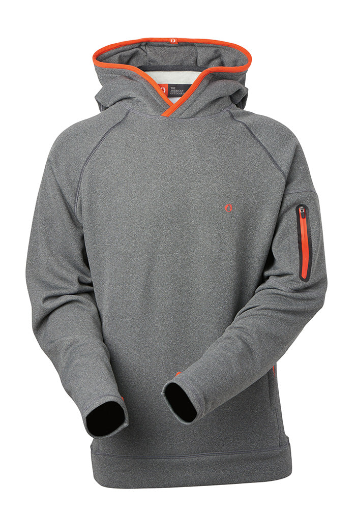 Performance stretch fleece with welded zippers and thumb holes, the Moab is the perfect active hoodie for any outdoor adventure. A go-to on cool morning runs and cold nights around the campfire