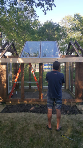 DIY greenhouse upcycled